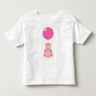 Gullig flyggris och ballong tee shirts