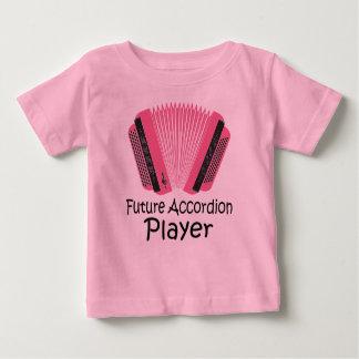 Gullig framtida dragspels- spelarebabyutslagsplats t-shirts