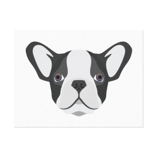 Gullig fransk bulldogg för illustration canvastryck