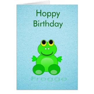 Gullig Froggo groda Hälsningskort