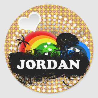 Gullig fruktig Jordanien Runt Klistermärke