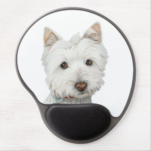 Gullig Gel Mouspad för Westie hundkonst Gelé Mus-mattor