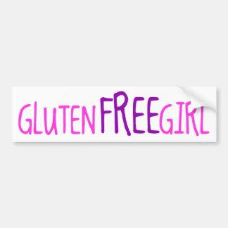Gullig Gluten frigör flickan Bildekal