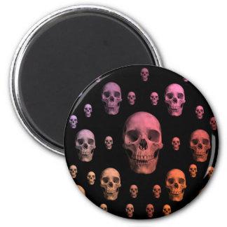 Gullig gotisk punk färgrik döskallar magnet rund 5.7 cm