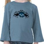 Gullig gotisk vampyrskalle i blåttsmåbarn t shirts