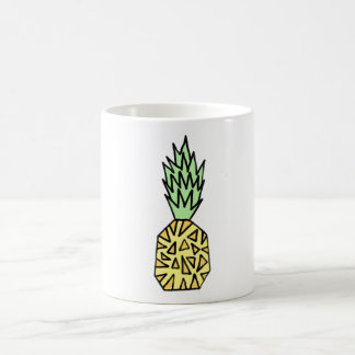 Gullig grafisk ananasillustrationmugg kaffemugg