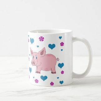 Gullig griskaffekopp kaffemugg