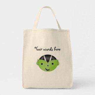 Gullig grön vampyr tote bags