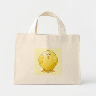 Gullig gul chick. Lite Bird. Mini Tygkasse