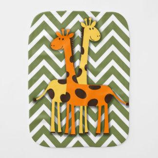 Gullig gul och orange giraffrapningtrasa bebistrasa