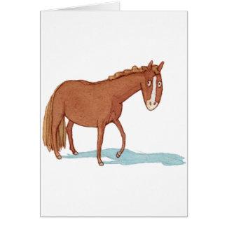 Gullig Haflinger ponny Hälsningskort