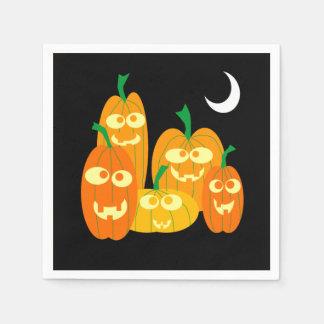 Gullig halloween fest för Jackolantern Pappersservett