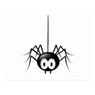 Gullig Halloween för svart spindel gåva Vykort