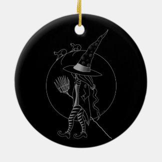 Gullig Halloween häxa Julgransprydnad Keramik