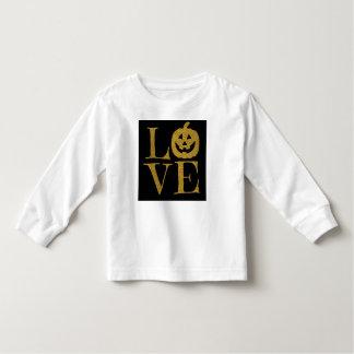 Gullig Halloween KÄRLEK, guld- glitterbrev för w T Shirts
