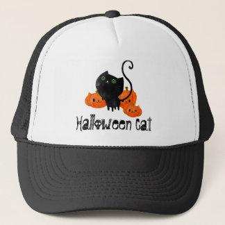 Gullig Halloween katt med pumpor Keps