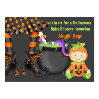 Gullig Halloween neutral baby showerinbjudan 11,4 X 15,9 Cm Inbjudningskort