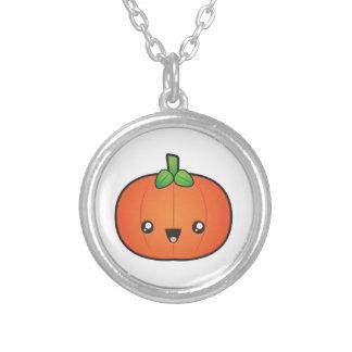 Gullig Halloween pumpa Silverpläterat Halsband