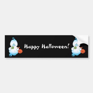 Gullig Halloween spöketecknad Bildekal