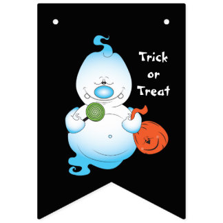 Gullig Halloween spöketecknad Vimplar