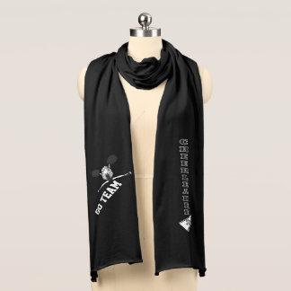Gullig hejaklacksledareflicka för svart Silhouette Halsdukar