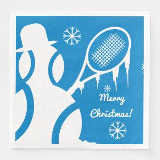Gullig helgdag för jul för vinter för pappersservetter