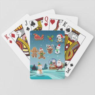 Gullig helgdagarplats spelkort