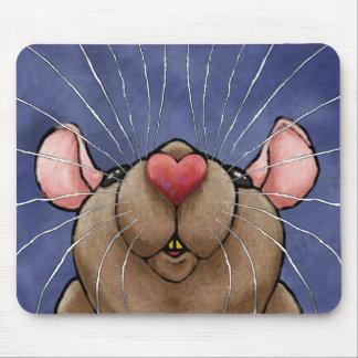 Gullig hjärtaråtta Mousepad Musmatta