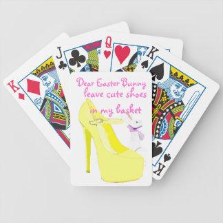 Gullig högklackar för påskhare spelkort