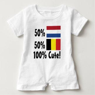 Gullig holländare 100% för 50% belgare 50% tee shirt