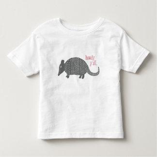 Gullig Howdy bältdjurTexas T-tröja T Shirts