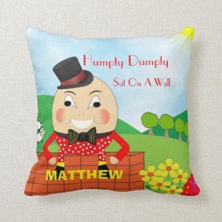Gullig Humpty Dumpty för ungebarnkammarerim Kudde