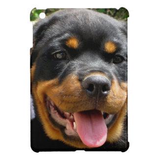 Gullig hund för Rottweiler valpansikte iPad Mini Skal