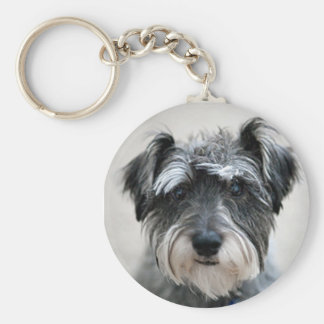 Gullig hund Keychain Rund Nyckelring