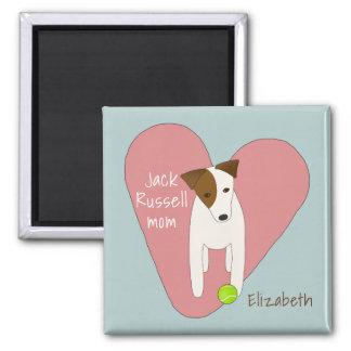 gullig hund som vippar på den head rosa magnet