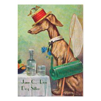 Gullig hundbarnvakt/visitkort för set av breda visitkort
