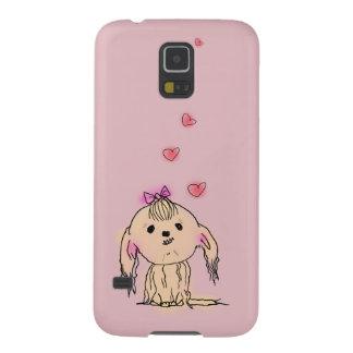 Gullig illustration för Shih Tzu hund Galaxy S5 Fodral