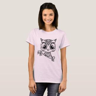 Gullig illustrerad uggla t shirts