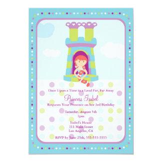 Gullig inbjudan för Rapunzel Princess
