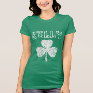 Gullig irländsk ShamrockKelly t skjorta Tee Shirts