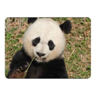 Gullig jätte- Pandabjörn 12,7 X 17,8 Cm Inbjudningskort