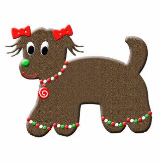 Gullig jul för pepparkakavalphund