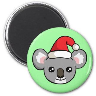 Gullig julKoala i magnet för Santa hattteckning Magnet Rund 5.7 Cm