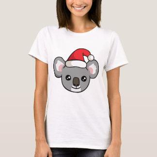 Gullig julKoala i skjorta för Santa hattteckning T-shirts
