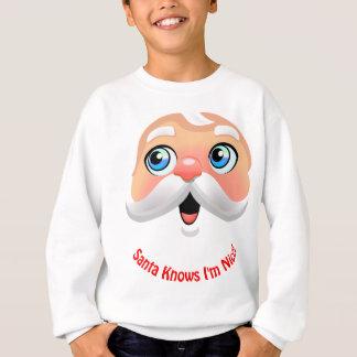 Gullig jultomten med rosiga kinder t-shirt