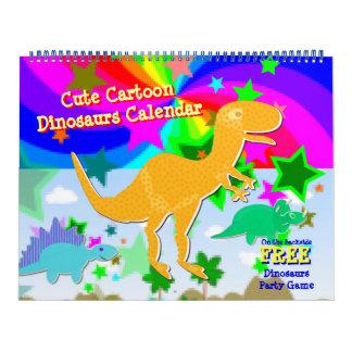 Gullig kalender för tecknadDinosaursungar
