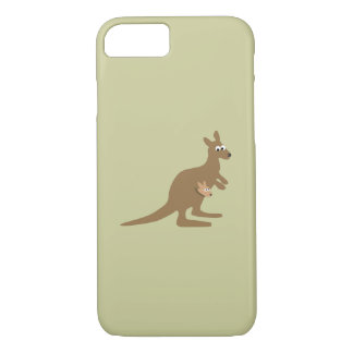Gullig känguru och känguruunge