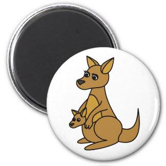 Gullig känguru och känguruunge magnet