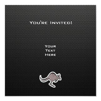 Gullig känguru; Slätt Fyrkantigt 13,3 Cm Inbjudningskort