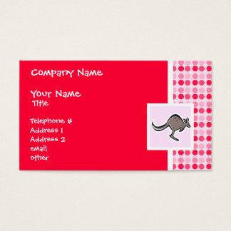 Gullig känguru visitkort